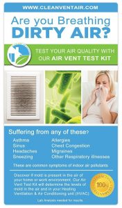 Clean Vent Air Solutions - Air Test Kit for Mold