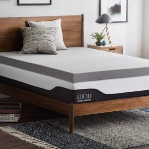 Bamboo Charcoal Memory Foam Mattress Topper
