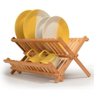 Folding Bamboo Dish Drying Rack