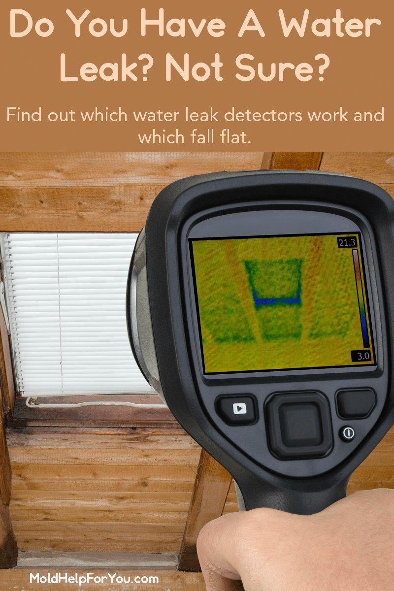 Infrared Camera used to detect moisture intrusion in an attic. Leak detection device.