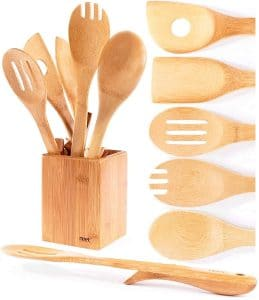 Organic Bamboo Cooking Utensils Set