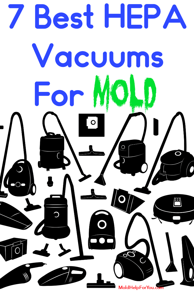 A collage of the best HEPA vacuums for mold