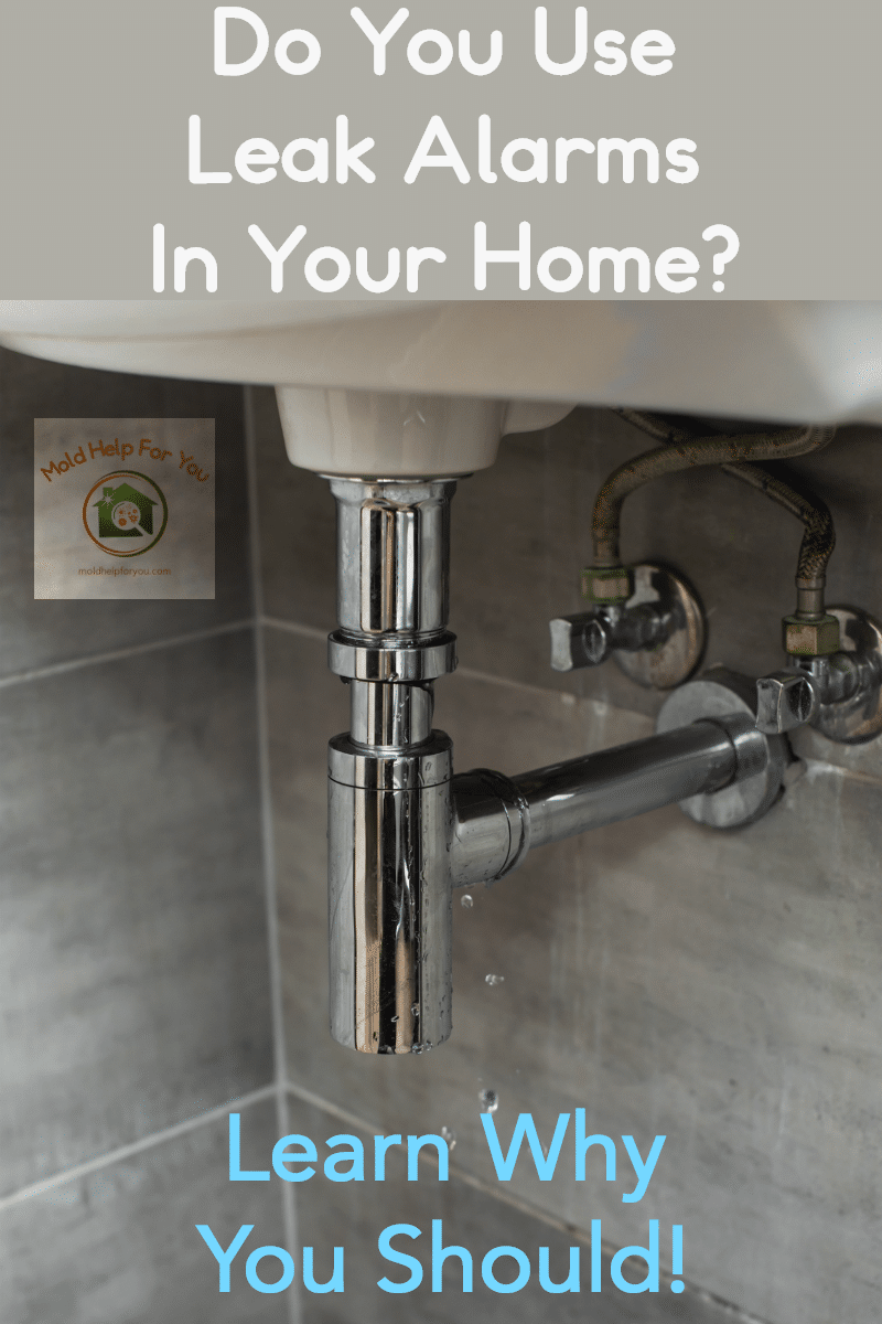 A leaky sink pipe that needs a water leak alarm