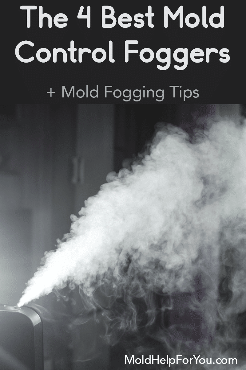 a mold control fogger in a living room