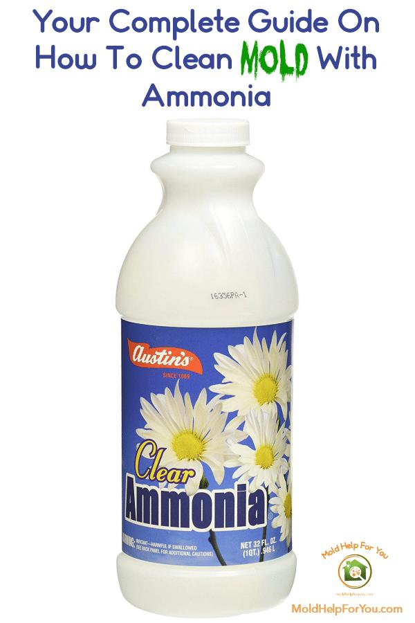 A bottle of ammonia to kill mold