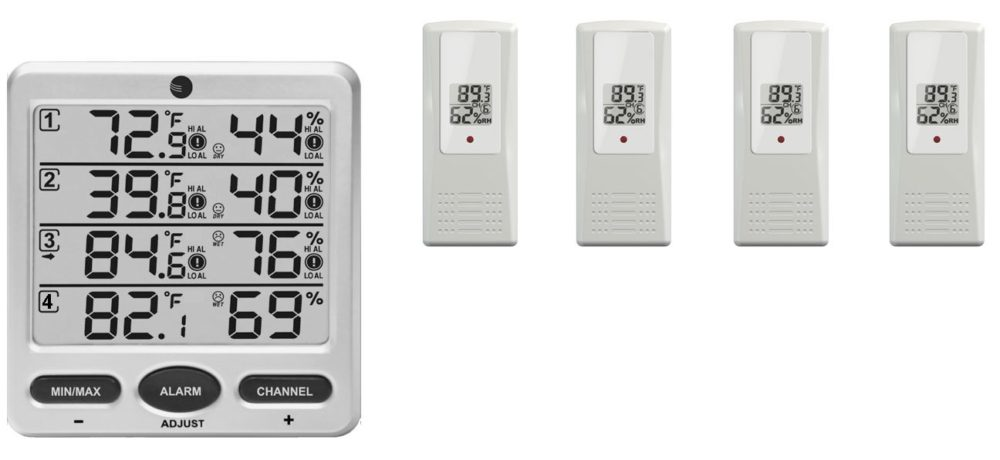 Ambient Weather WS-10-X4 Wireless Thermo-Hygrometer