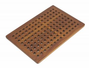 AquaTeak The Original Grate Teak Bath Shower Mat