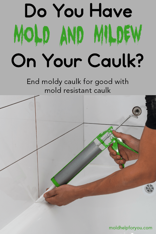 A handyman using mold resistant bathroom caulk around the shower