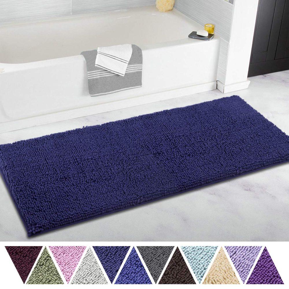 ITSOFT Microfiber Chenille Bathroom Rug