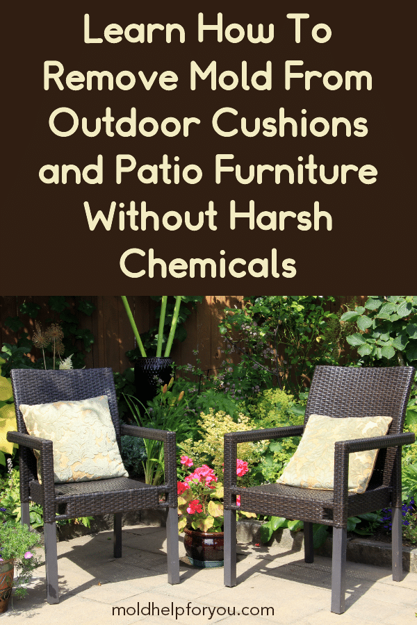 A set of mold free patio cushions