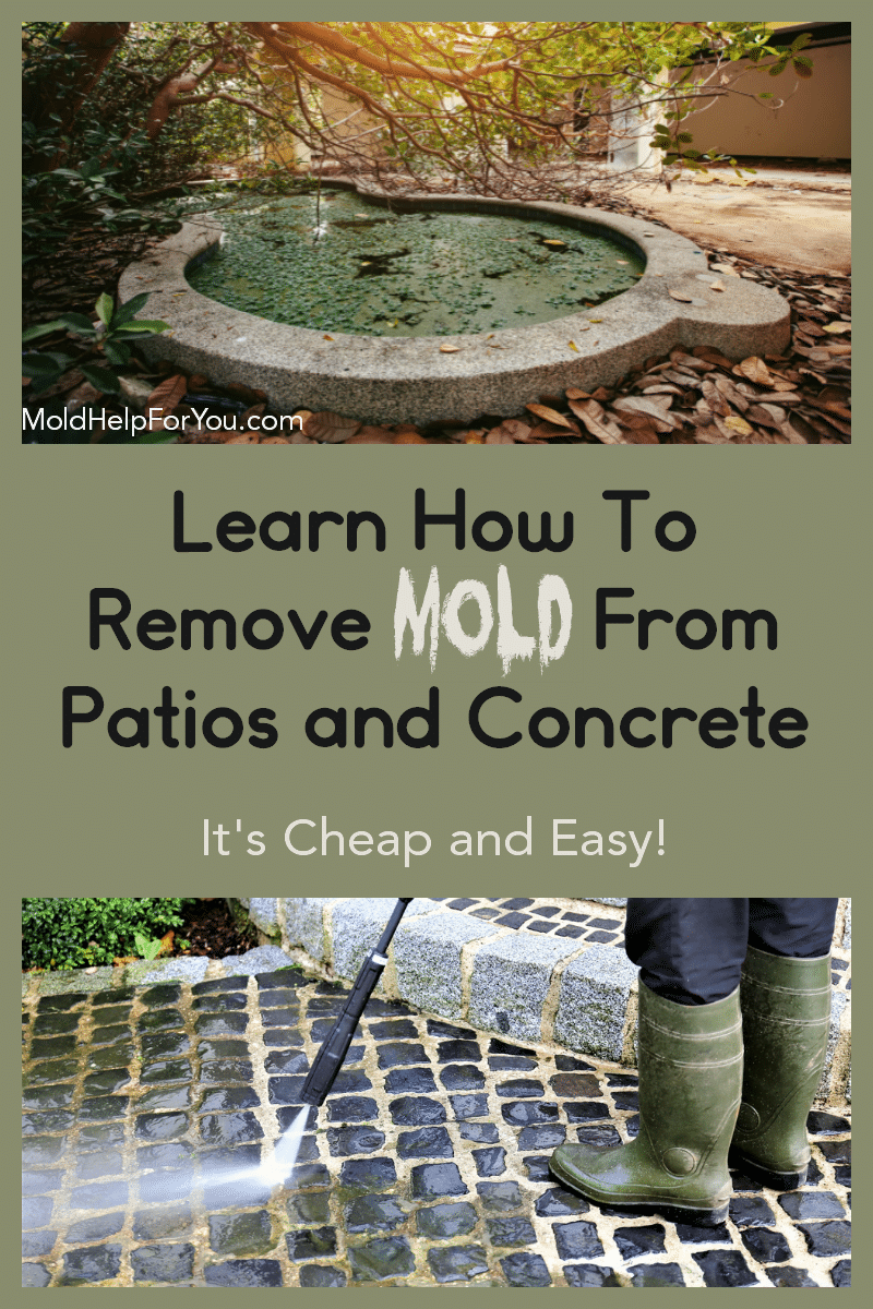Powerwashing a paver patio to remove mold from patios and concrete