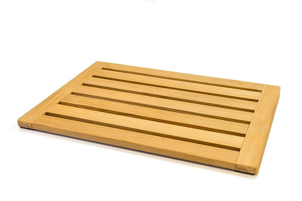 Natural Teak Wood Bath Mat by Home Fundamentals