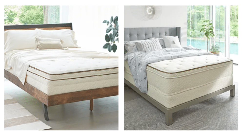 Two views of the Naturepedic mold resistant mattress