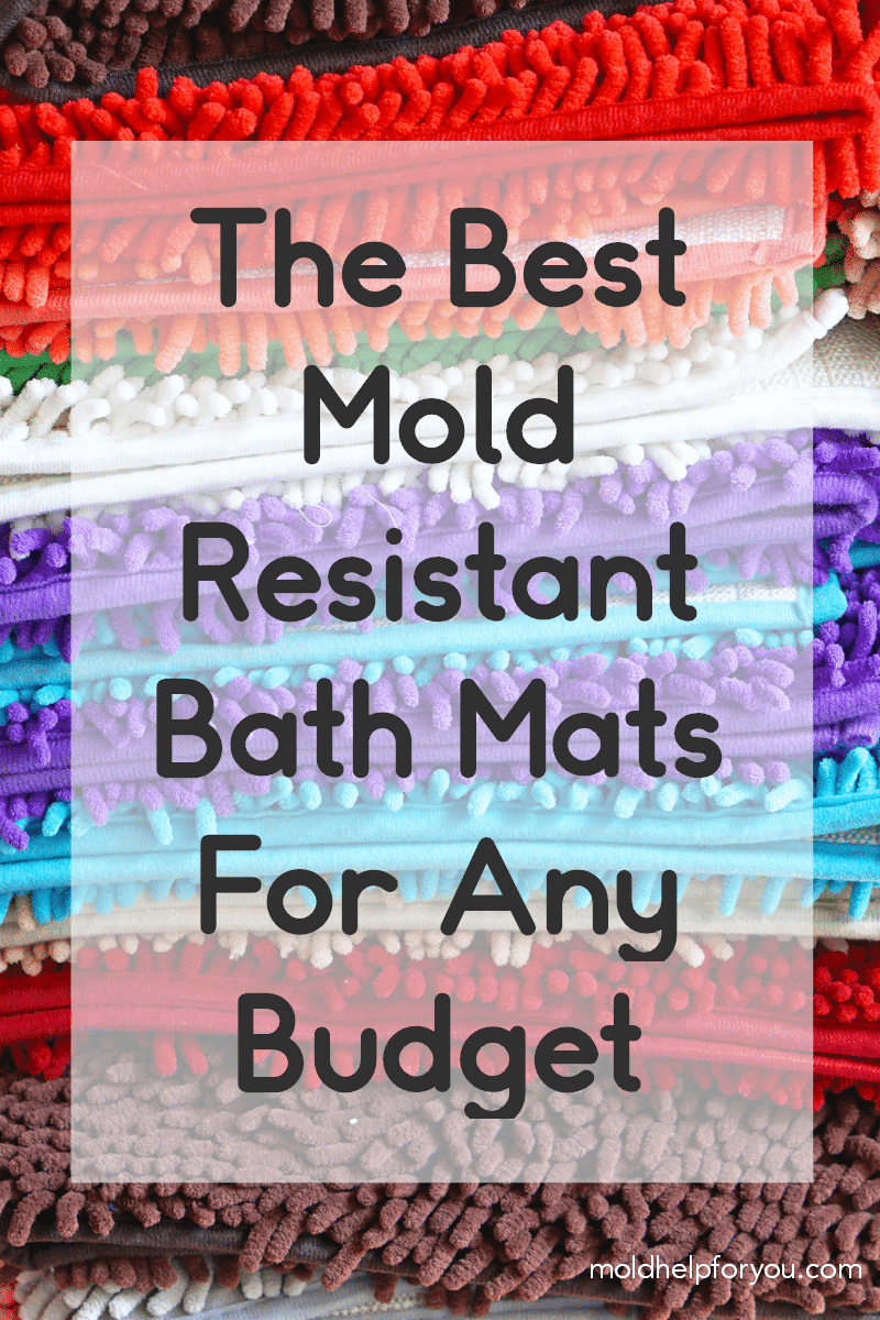 A stack of colorul mold resistant bath mats