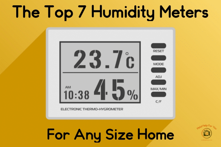 A white humidity meter on a yellow wall