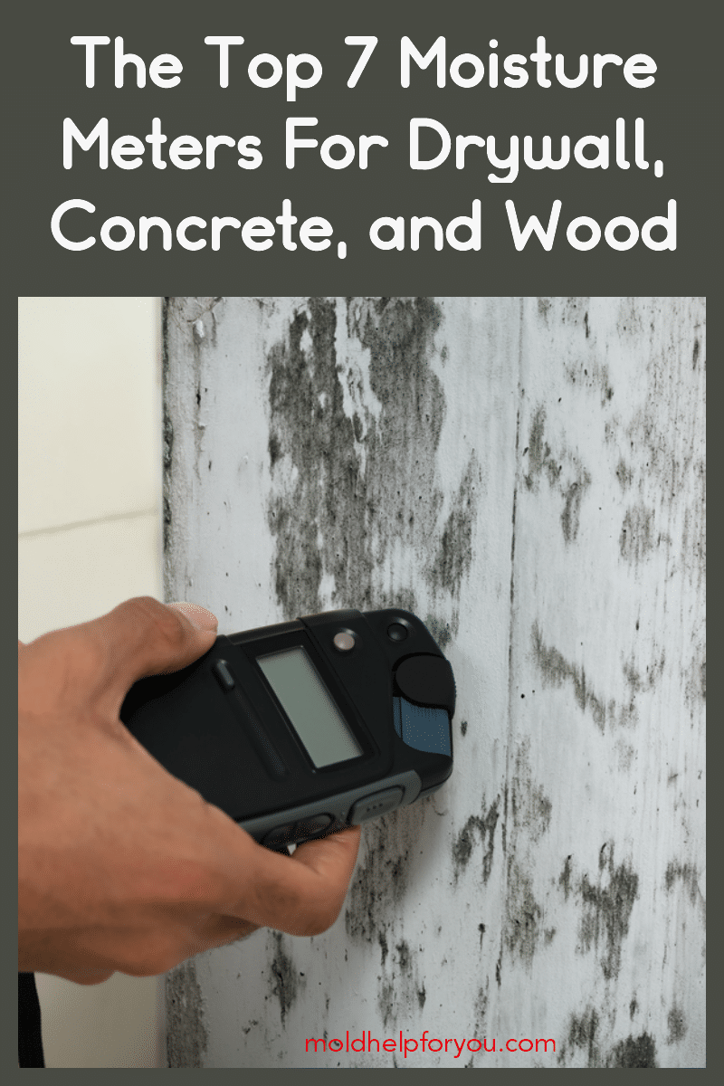 A home inspector using one of the top 7 moisture meters for drywall, concrete, and wood