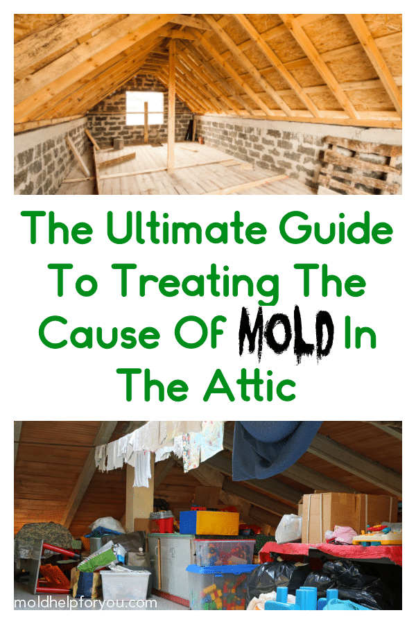 A cluttered attic illustrating what not to do to prevent mold