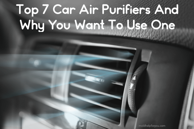 Car air vent blowing out air that has been purified with a car air purifier