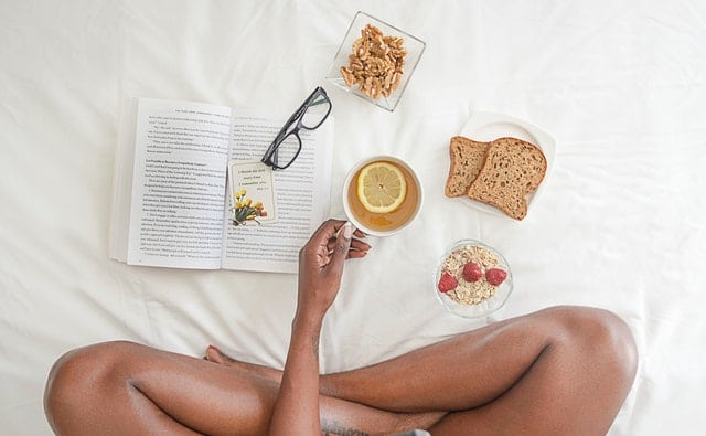 Eating and Working In Bed