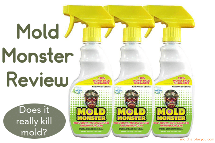 Three spray bottles of Mold Monster