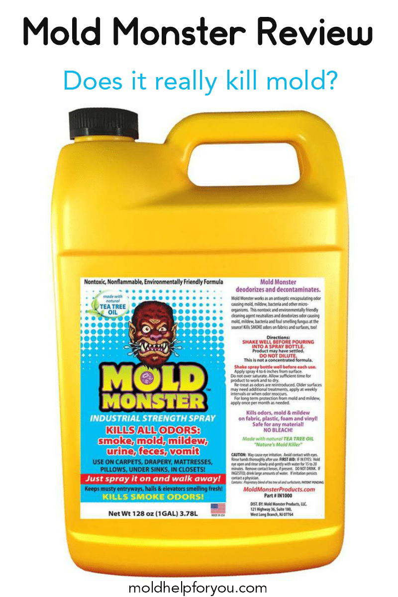 A bottle of mold monster on a white background