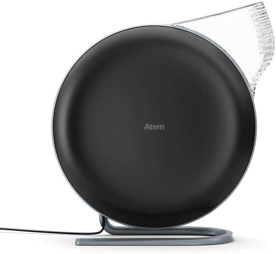 IQ Air Atem car air purifier on white background