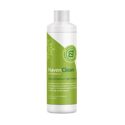 Bottle of BioBalance HavenClean Carpet and Furniture Mold Treatment